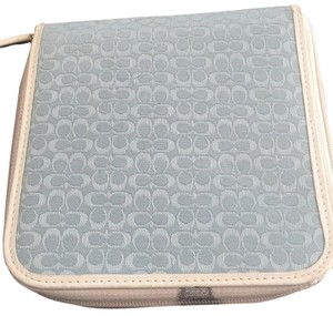 Coach Coach Signature C Baby Blue Photo Album/CD Holder-Plastic Double Sided Sleeves Inside-Retail $68