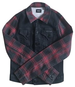 Hudson Jeans black & plaid Womens Jean Jacket