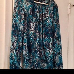 Jones New York Top Turquoise Multi