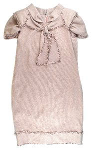 Chanel short dress Pink Tweed Metallic on Tradesy