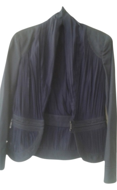 Preload https://item3.tradesy.com/images/zac-posen-very-dark-blue-with-black-and-spring-jacket-size-10-m-10599892-0-1.jpg?width=400&height=650