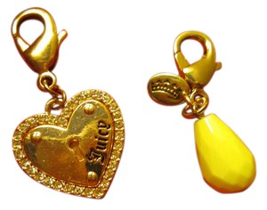 Juicy Couture Juicy Couture Gold color Heart Charm with sparkle free lemon drop pear