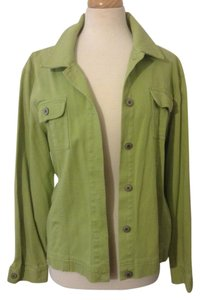 JM Collection Denim Jean Green Womens Jean Jacket