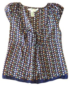 Studio M Top Navy, multi-color (orange, green, pink, red)