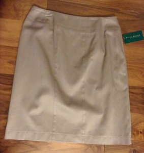 Harvé Benard Designer Work Casual Skirt Khaki
