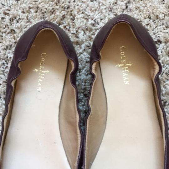 Cole Haan Tan and burgundy Flats