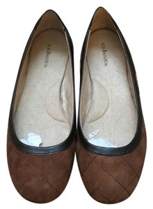 G.H. Bass & Co. Brown Quilted Flats