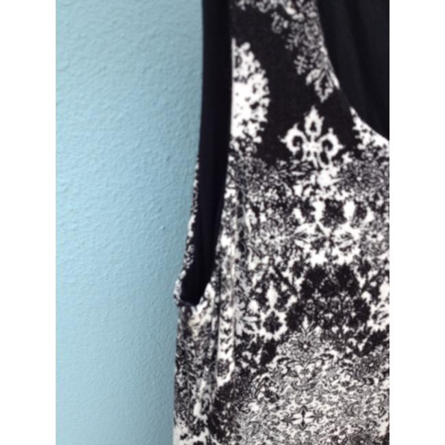 Other short dress Black and white print Reversible Sleeveless Stretchy Scoop on Tradesy