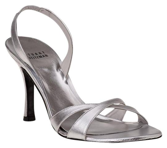 Preload https://item2.tradesy.com/images/stuart-weitzman-silver-leather-delovely-metallic-sandals-size-us-95-regular-m-b-10600636-0-2.jpg?width=440&height=440