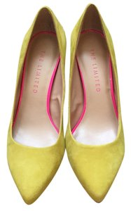 The Limited Yellow Suede Pumps