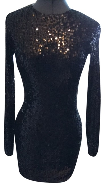 Preload https://item1.tradesy.com/images/french-connection-black-lust-sequin-fitted-short-night-out-dress-size-4-s-10601095-0-1.jpg?width=400&height=650
