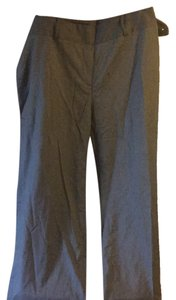 Anne Klein Wide Leg Pants Grey with black light striped pattern