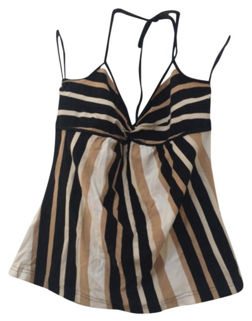 Preload https://item5.tradesy.com/images/h-and-m-black-brown-white-with-scrunched-chest-detail-tank-topcami-size-8-m-10601359-0-1.jpg?width=400&height=650