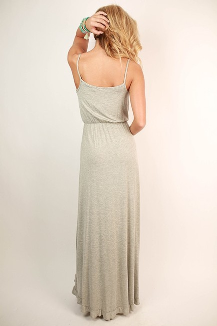 Heather Grey Maxi Dress by Other Ruffles Maxi