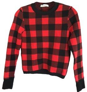 Sandro Plaid Sweater