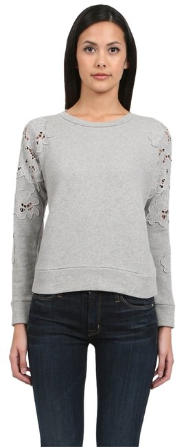 Preload https://item2.tradesy.com/images/gray-floral-cut-out-sweatshirthoodie-size-0-xs-10601776-0-2.jpg?width=400&height=650