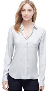 Ann Taylor Top Light blue with black accents