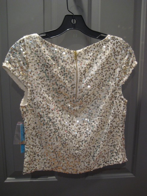Alice + Olivia And Sequin Top Gold