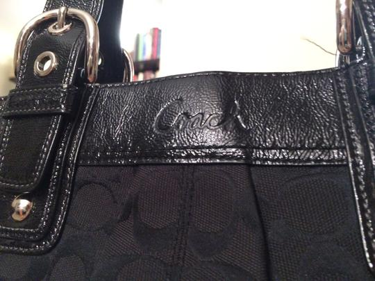 Coach Pleated Soho Tote in Black