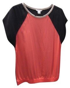 Diane von Furstenberg Top Pink and Black