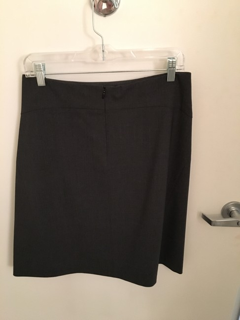 Theory A-line Wear To Work Skirt Charcoal Gray