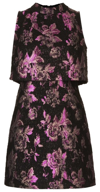 Item - Black and Pink Mid-length Cocktail Dress Size 4 (S)