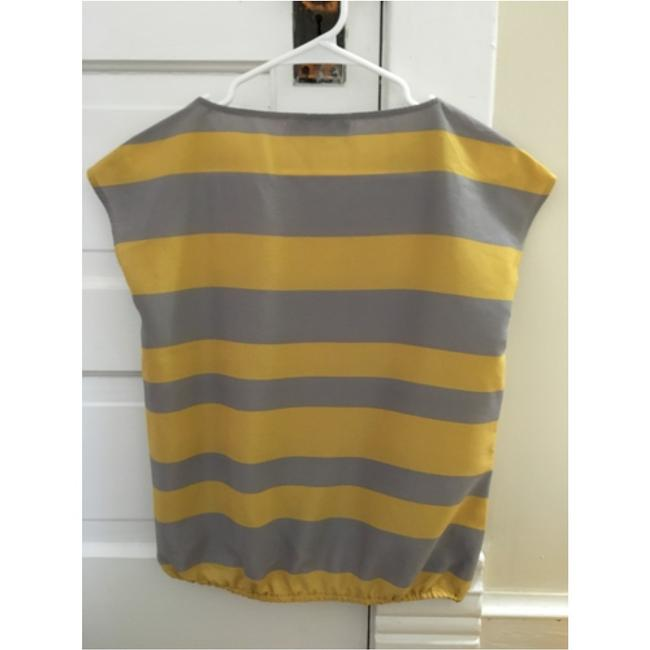 Ann Taylor LOFT Top Yellow and light grey