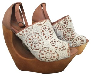Jeffrey Campbell Tan Wedges