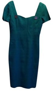 Versace short dress Blue-green on Tradesy