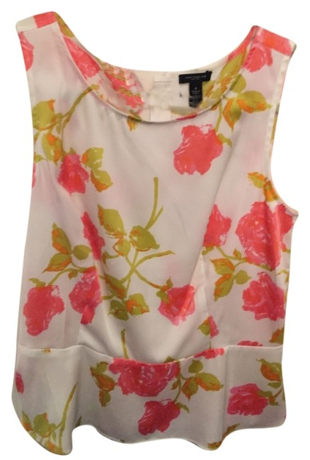 Preload https://item3.tradesy.com/images/ann-taylor-white-peplum-sleeveless-with-floral-pattern-blouse-size-4-s-10603372-0-2.jpg?width=400&height=650