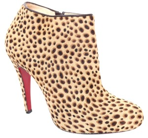 Christian Louboutin Belle Pony Hair Ankle Exotic Louboutins Animal Print Boots