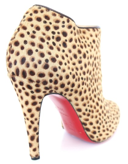 Christian Louboutin Belle Pony Hair Ankle Exotic Animal Print Boots