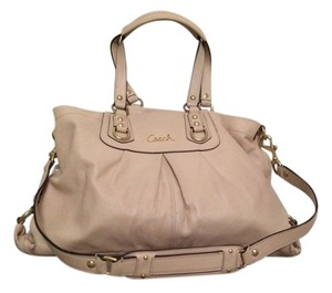 Coach 15513 Ashley Leather Satchel in Ivory