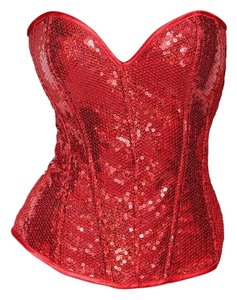 Shirley of Hollywood Halloween Top Red Sequin