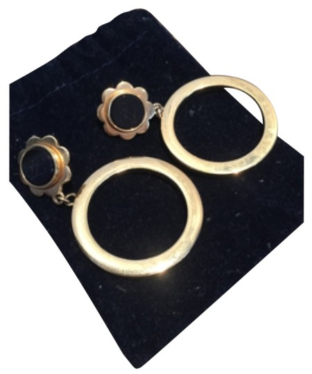 Preload https://item2.tradesy.com/images/karl-lagerfeld-gold-with-black-vintage-earrings-10603891-0-1.jpg?width=440&height=440