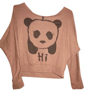 Love Culture Panda Hi Bye Loose Top Brown