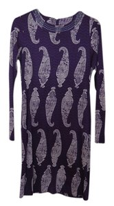 Tory Burch short dress Purple Print Silk Embellished Paisley on Tradesy