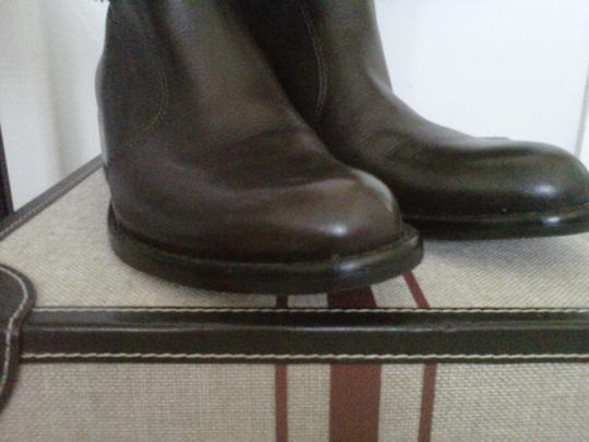 Via Spiga Italian Leather Chocolate Brown Boots
