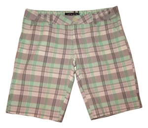 Volcom Bermuda Bermuda Short Bermuda Shorts Light Green with Gray and White