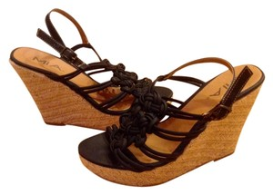 Mia Shoes Summer Black Wedges
