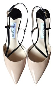 Jimmy Choo Nude Black Patent Pumps