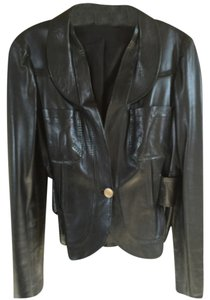 Gucci Blac Leather Jacket