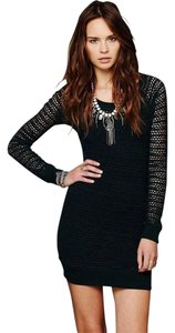 Nightcap short dress Black Free People Clothing Crochet on Tradesy