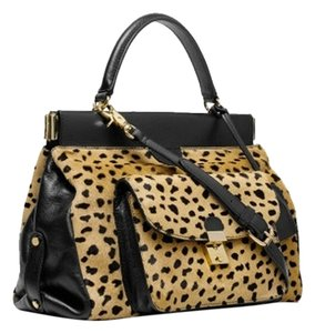 Tory Burch Satchel in Animal Print Calf Hair
