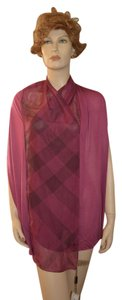 Burberry NWT BURBERRY MODAL & SILK PANELED NOVA CHECK SCARF MADE IN ITALY