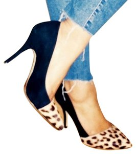 Madewell Suede Leopard Black Pumps