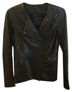 VEDA Blac Leather Jacket