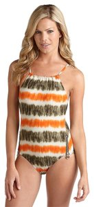 Michael by Michael Kors MICHAEL by Michael KORS -Size 6- Tie-Dye Side Zipper One-Piece Designer Swimsuit