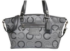 Coach Daisy Dotted Outline Satchel in Grey Multi