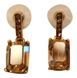 Oscar de la Renta OSCAR DE LA RENTA NEW SMALL RECTANGULAR CRYSTAL DROP EARRINGS